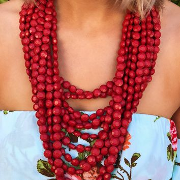Make This Last Necklace: Red