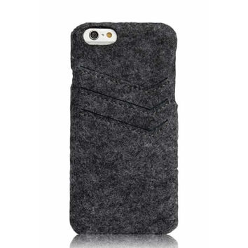 iPhone 6 6S felt case with pocket
