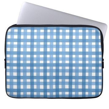 cool blue stripes laptop sleeve