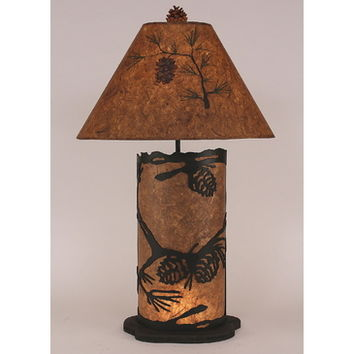 Coast Lamps Large Pine Cone Scene Panel With Night Light Lamp