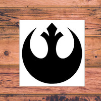 Star Wars Rebel Alliance Decal | Star Wars Silhouette | Star Wars Trilogy Decal | Star Wars Logo | Nerdy Decal | Star Wars Nerd | 360