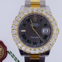Rolex Date Just II 41mm Two Tone 18k YG & SS 6.00 Ct Diamond Bezel ASAAR DEAL
