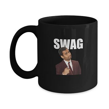 Swag Funny Aziz Parks And Rec Funny TV Show Drinking Coffee Mug