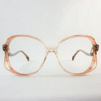 Womens Big Eyeglasses, Oversized Copper from DontUWantMe on Etsy