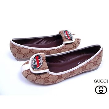 GUCCI Slip-On Women Fashion Low heeled Shoes