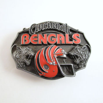 1987 Cincinnati Bengals Belt Buckle, Vintage Football Buckle, Siskyou Limited Edition Belt Buckle, NFL Buckle, Sports Buckle, Father's Day