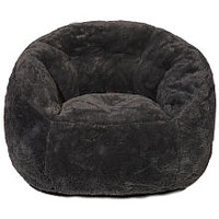 Idea Nuova Faux Fur Bean Bag Chair - Dark Gray