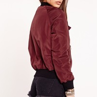 Missguided - Utility Bomber Jacket Red