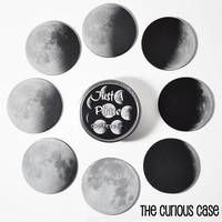 Moon Phase 8 Coasters Drink Coaster Set in Gift Tin