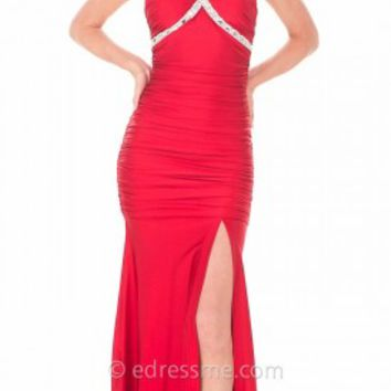 Crisscross Ruched Mermaid Prom Gown by Atria