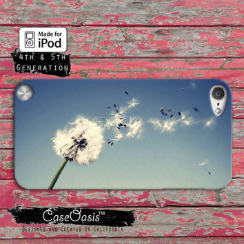 Dandelion Flower Tumblr Inspired Love Cute Custom Case iPod Touch 4th Generation or iPod Touch 5th Generation Rubber or Plastic Case