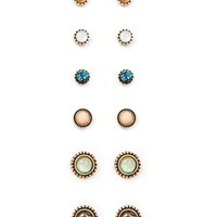Faux Stone Earring Set