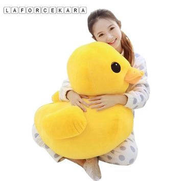 2017 Brand Big Yellow Duck Stuffed Animals Plush Toy,Cute Big Yellow Duck plush toys For Birthday baby gift size 12cm-50cm