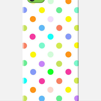 Cute POLKA DOT iPhone 6 case, spotty iPhone Case, colourful iphone Case, new iphone 6 case, colorful cell cover, girly gift, pretty case