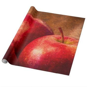 Red Apples Still Life Wrapping Paper