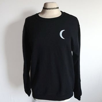 Moon Child Sweatshirt, Moon Phase Sweatshirt, Tumblr Sweatshirt, Tumblr Clothing, Grunge Sweatshirt, 90s Grunge Clothing, Women's Sweatshirt