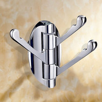 3 Hooks Zinc Alloy Bathroom Bedroom Door-Back Towel Clothing Holder Rack Household Hardware