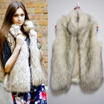 Fur Vest Winter Jacket [9328121284]