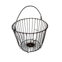 Antique Wire Egg Basket Vintage Primitive Metal by BananasDesign