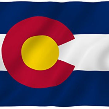 ANLEY® [Fly Breeze] 3x5 Foot Colorado State Polyester Flag - Vivid Color and UV Fade Resistant - Canvas Header and Double Stitched - Colorado CO Flags with Brass Grommets 3 X 5 Ft