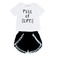 cotton blend white short sleeved suit for baby girl short sleeved sets with letters-in Clothing Sets from Mother & Kids on Aliexpress.com | Alibaba Group