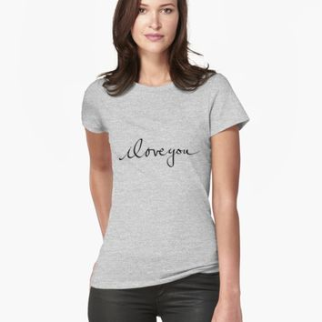 "'""iloveyou"" hand drawn typography' T-Shirt by BillOwenArt"