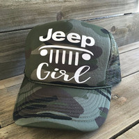 Jeep Girl Camo Trucker Hat