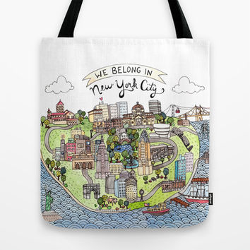 New York City Love Tote Bag by Brooke Weeber