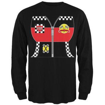 PEAPGQ9 Halloween Hot Rod Costume Racing Mens Long Sleeve T Shirt
