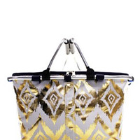 Insulated Picnic Basket IKAT Metallic - 2 Color Choices