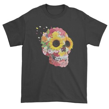 Sunflower Skull Mens T-shirt