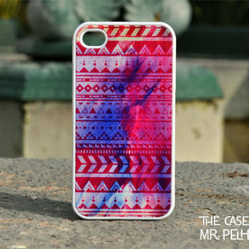 iPhone 4 Case - Aztec Pattern in Magenta