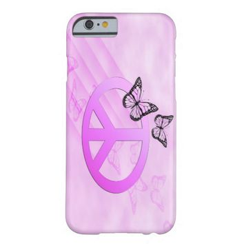 Pink Peace Barely There iPhone 6 Case