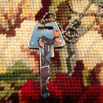 Disney's Lion King Rafiki Altered Art Key Necklace