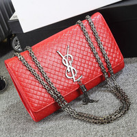 Stylish Korean Leather One Shoulder Chain Bags [6580857095]