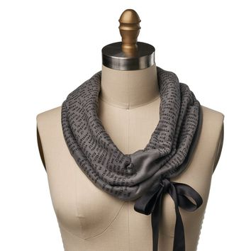 Frankenstein Ribbon Book Scarf