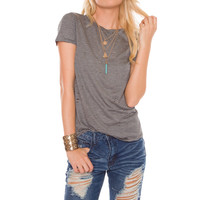 Everland Distressed Stripe Top