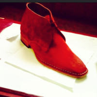 Handmade mens Cherry red suede jodhpurs boot, Men suede leather boot, Men boots
