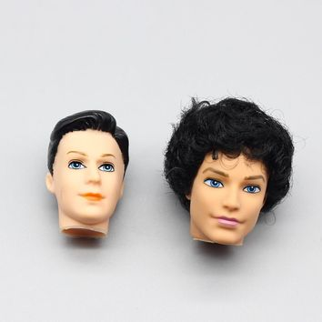 1pcs Foreign Trade Heads For Barbie boy Dolls DIY Ken boy friend head Birthday Gifts Dolls Heads ER017