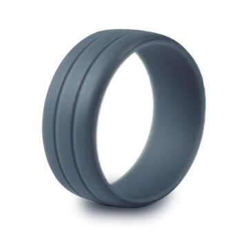 Enso Mens Ultralite Silicone Ring - Safe Wedding Band for Sports, Work, Gym, Military, First Responders.