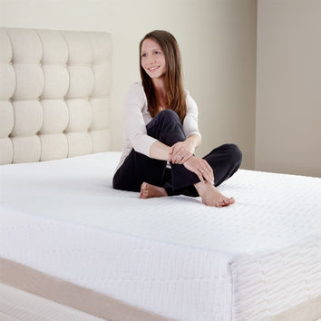 Twin XL size 11-inch Tri-Zone Medium Firm Latex Foam Mattress with Cotton Cover