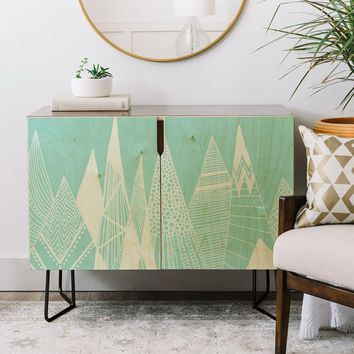 Viviana Gonzalez Patterns in the mountains 02 Credenza | Deny Designs Home Accessories
