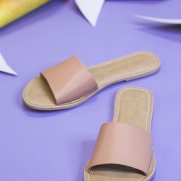 Cabana Leather Band Sandal, Nude | Coconuts by Matisse
