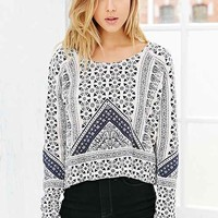 Anama Pieced Printed Top-