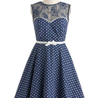 ModCloth Vintage Inspired Mid-length Sleeveless A-line A Dot to Love Dress