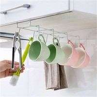 Under The Shelf Mug Stand Kitchen Storage Hanging Organizer Metal Closet Organizer Rack Over The Cabinet