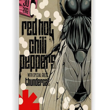iPhone 4 Case - Rubber (TPU) Cover with red hot chili peppers Rubber Case Design