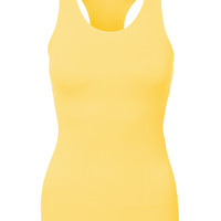 LE3NO Womens Stretchy Racerback Activewear Sports Tank Top (CLEARANCE)