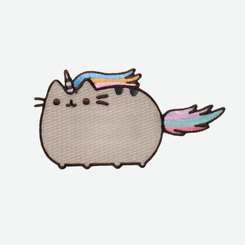 Pusheenicorn iron on patch