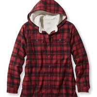 Women's Fleece-Lined Flannel Plaid Hoodie at L.L.Bean